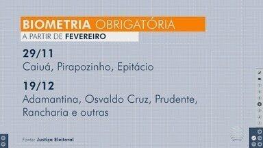 Eleitores do Oeste Paulista vão passar por cadastramento biométrico - Período obrigatório começa no dia 4 de fevereiro.