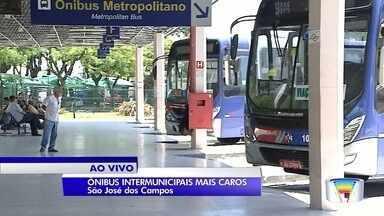 Tarifas de ônibus intermunicipais terão reajuste médio de 6,88% no Vale - Reajuste nas 80 linhas da região será aplicado a partir de domingo (20).