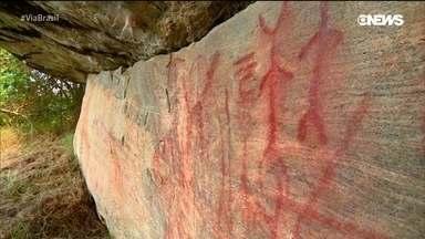 As pinturas rupestres em Minas Gerais