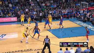 Los Angeles Lakers bate o Oklahoma City Thunder na prorrogação da NBA - Los Angeles Lakers bate o Oklahoma City Thunder na prorrogação da NBA