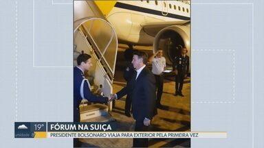 Presidente faz primeira viagem internacional - O presidente Jair Bolsonaro embarcou neste domingo (20) para Suíça, onde participa do Fórum Mundial de Davos. O vice-presidente Hamilton Mourão assume interinamente até a madrugada de sexta-feira (25), quando Bolsonaro volta para o Brasil.