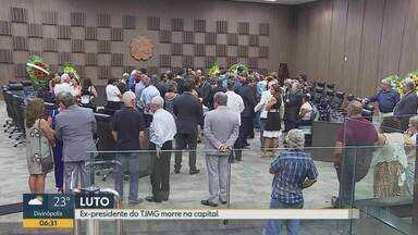 Corpo do ex-presidente do TJMG Sérgio Lellis Santiago é sepultado em BH - A causa da morte não foi divulgada pelo TJMG. Luto de três dias foi decretado pelo atual presidente do órgão.