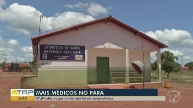 No Pará, 60% das vagas do programa Mais Médicos ainda não foram preenchidas - Segundo o Sindicato da categoria, as condições precárias de trabalho no interior estão entre os motivos relatados pelos profissionais.