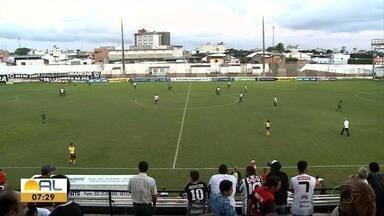 Asa e Murici empatam o jogo em Arapiraca - O alvinegro ainda teve chance de fazer mais gols, mas não conseguiu.