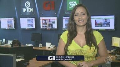 Natália de Oliveira traz os destaques do G1 Sorocaba e Jundiaí - A repórter Natália de Oliveira traz os destaques do G1 Sorocaba e Jundiaí nesta segunda-feira (21).