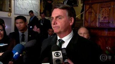 Em Davos, Bolsonaro diz que quer recuperar a confiança de investidores - Com a ausência de muitos líderes importantes, Jair Bolsonaro é a grande expectativa no Fórum Econômico Mundial. Reformas devem estar no discurso.