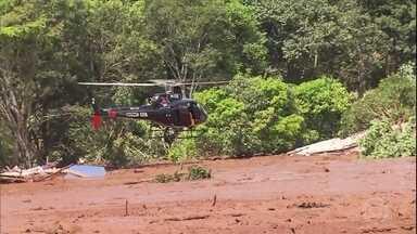 Buscas por desaparecidos são retomadas em Brumadinho - Trezentas pessoas ainda estão desaparecidas depois do rompimento da Barragem do Feijão, em Brumadinho. Nove mortes já foram confirmadas.