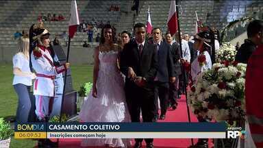 Inscrições para casamento coletivo em Curitiba estão abertas - Também vai ter cerimônia em Pinhais.