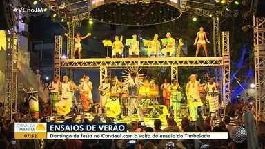 De volta ao Candeal: Timbalada inicia temporada de ensaios de verão em Salvador - Veja como foi a festa.