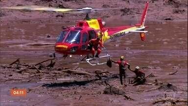 Chuva atrapalha os trabalhos de resgate em Brumadinho - Equipamentos pesados não puderam ser usados.