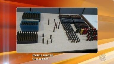 Polícia encontra 500 munições na casa de uma mulher em Mirassol - A polícia encontrou 500 munições na casa de uma mulher em Mirassol (SP). Ela foi presa.