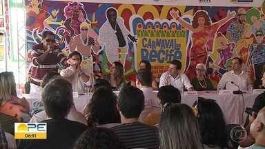 Recife divulga detalhes da programação do carnaval - Entre as atrações estão BaianaSystemm, Natiruts, Fafá de Belém e Jorge Aragão.
