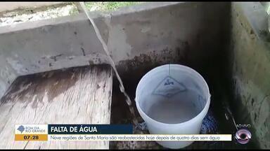 Nove regiões de Santa Maria são reabastecidas depois de quatro dias sem água - Assista ao vídeo.