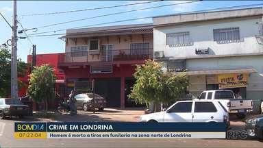 Homem é morto a tiros em funilaria - O caso foi em Londrina.