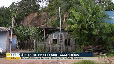 Em Santarém, 17 pontos são considerados pela Defesa Civil como áreas de risco - A Defesa Civil do Estado está monitorando as áreas de risco em todos os municípios da região do Baixo Amazonas.