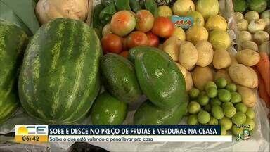Veja os preços de frutas e verduras na Ceasa, em Maracanaú - Confira o que vale a pena levar para casa nesta semana.