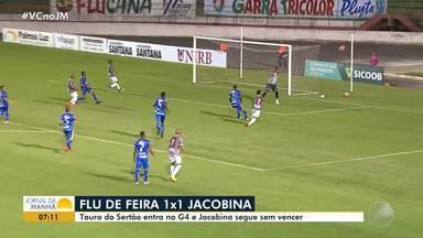 Flu de Feira empata com o Jacobina por 1 x 1 no Baianão - Veja os destaques da partida.