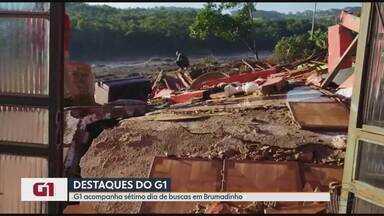 Filha encontra celular, mas pai continua desaparecido em Brumadinho - Giselle Santana encontrou celular, crachá e caminhão do pai intactos na Vale. Número de desaparecidos chegou a 259.