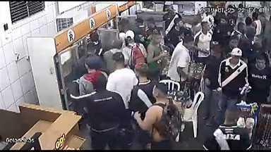 Grupo de torcedores do Vasco saqueia restaurante às margens da Dutra em Jacareí - Vídeo gravou a ação.