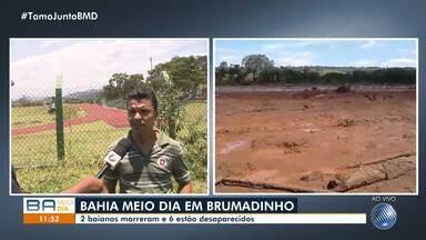 BMD em Brumadinho: chega a oito o número de baianos entre as vítimas da tragédia em Minas - A reportagem da TV Bahia foi a Brumadinho acompanhar a situação dos baianos desaparecidos na tragédia.