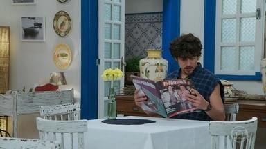Jerônimo lê sobre Quinzinho, Tobé e Candé - Jerônimo quer ir na festa dos famosos