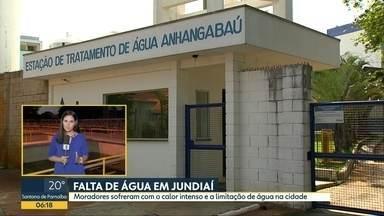 Falta de água em Jundiaí - Moradores sofreram com o calor intenso e a limitação de água na cidade