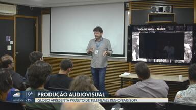 Globo apresenta projeto de telefilmes regionais - Trinta cineastas e roteiristas participaram do encontro e receberam as orientações de como inscrever um filme para o projeto este ano.