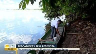 Pescadores entregaram lista com 20 reinvindicações para a Fundação Renova - As reivindicações são sobre os impactos do desastre do Rio Doce.