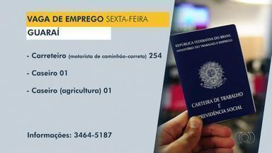 Confira as vagas de emprego disponíveis em Dianópolis, Guaraí e Araguatins - Confira as vagas de emprego disponíveis em Dianópolis, Guaraí e Araguatins