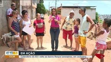 Calendário do ESTV: prefeitura não cumpre promessa de melhorias em Parque das Laranjeiras - TV Gazeta já foi seis vezes ao bairro.