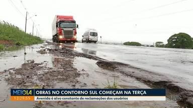Reforma no Contorno Sul de Maringá começa na terça - Estimativa é que o município gaste R$ 12 milhões no reparo da pista.
