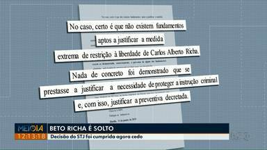Preso na Lava Jato, Beto Richa é solto após decisão do presidente do STJ - Ex-governador do Paraná estava preso desde sexta-feira (25) em uma operação que apura supostas fraudes na gestão de concessões de rodovias no estado.