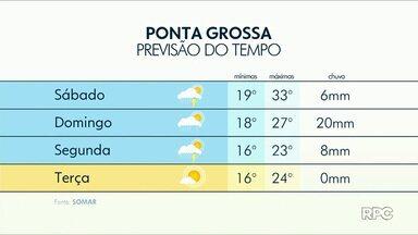 Previsão para os Campos Gerais inclui altas temperaturas e pancadas de chuva - Confira como fica o tempo em Ponta Grossa e região neste fim de semana.