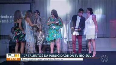 17º Talentos da Publicidade premia destaques do mercado publicitário no Sul do Rio - Convidados conheceram também o que vem por aí na programação da TV Rio Sul.