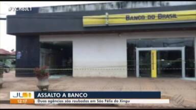 Criminosos assaltam agências bancárias em São Félix do Xingu - Ação foi na madrugada desta sexta-feira (1º). Bandidos fizeram reféns, invadiram os bancos e explodiram os cofres das agências.
