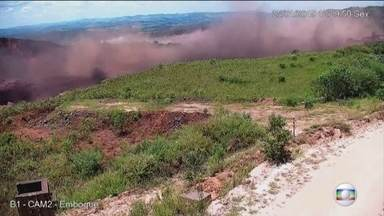 Câmera mostra outro ângulo do momento em que barragem estoura em Brumadinho - Câmera mostra outro ângulo do momento em que barragem estoura em Brumadinho,