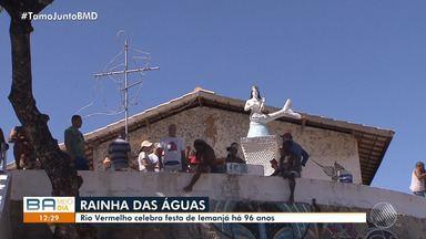Saiba como surgiram as homenagens a Iemanjá em Salvador e os preparativos para a festa - Trânsito sofre alterações na região do Rio Vermelho para receber os devotos. Confira.