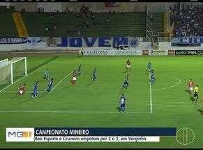Esporte: Cruzeiro empara por 2 a 2 contra o Boa Esporte - Confira outras notícias do esporte.