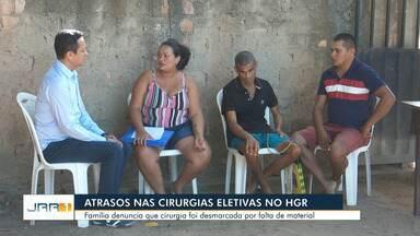 Paciente espera há três anos por cirurgia no Hospital Geral de Roraima - Família denuncia que atraso ocorre devido a falta de materiais na unidade.