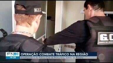 Operação policial prende suspeitos de tráfico de drogas no Oeste Paulista - Ação foi realizada em quatro cidades.