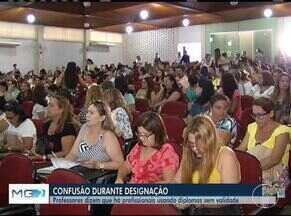 Designação de professores estaduais em Montes Claros tem confusão - Professores alegam que algumas pessoas usavam diplomas falsos para comprovar competências.