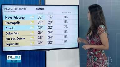 Confira a previsão do tempo para este sábado (2) no interior do Rio - Assista a seguir.