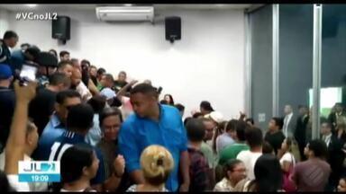 Discurso do prefeito Zenaldo é marcado por confusão na Câmara de Belém - A Guarda Municipal foi acionada para controlar os ânimos.