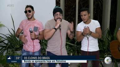 A dica desta sexta-feira é o show da banda Os Clones do Brasil - O grupo se apresenta daqui a pouco em Petrolina.