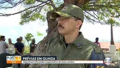 Prévias carnavalescas têm reforço no policiamento em Olinda - Na Cidade Alta, carnaval já começou.