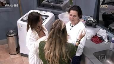 Tereza fala com as meninas na casa sobre acontecimentos - Isabella reclama de Rízia