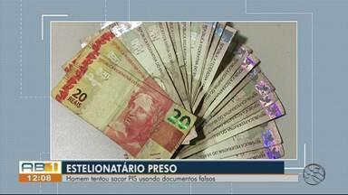 Suspeito de estelionato é preso ao tentar sacar dinheiro com documentos falsos em Caruaru - Homem tentou sacar um abono do Pis-Pasep, no valor de R$ 998, diz Polícia Federal.