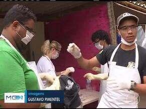 Voluntários ajudam na lavagem de roupas e alimentação de socorristas em Brumadinho - Equipes seguem na cidade em busca de desaparecidos na tragédia com barragem da mineradora Vale.