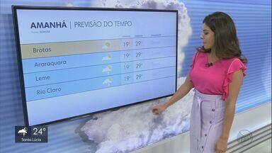 Confira a previsão do tempo para a sexta-feira na região. - Confira a previsão do tempo para a sexta-feira na região.