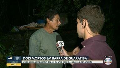 Deslizamento deixa duas pessoas mortas em Guaratiba - Deslizamento deixa duas pessoas mortas em Guaratiba